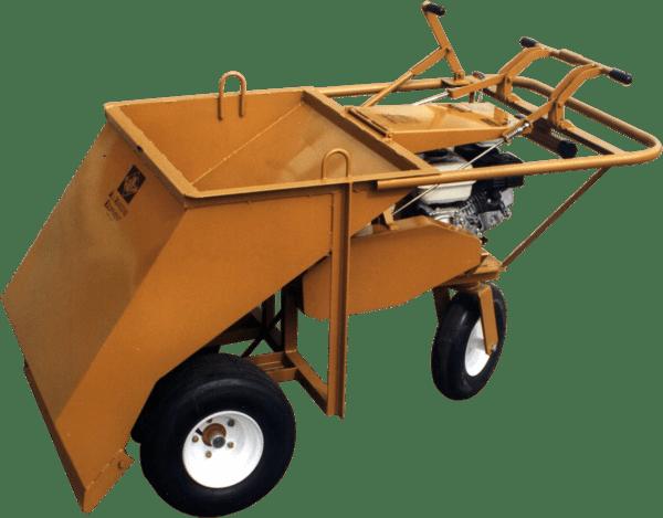 ase wheels under powered gravel spreader