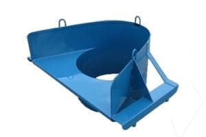 grizzly trash chute hopper