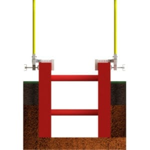 Garlock trench box clamp railing system