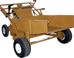 ase hydraulic power buggy dump bucket attachment