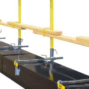 Garlock Parapet clamp railing system